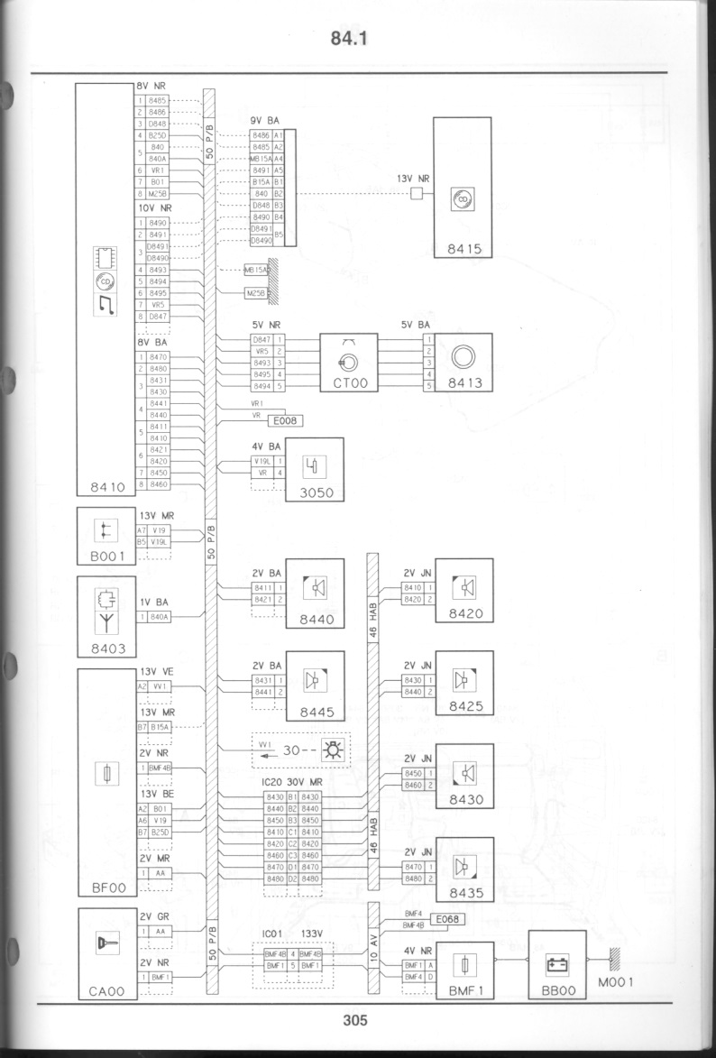 S1 Xantia V6 No Start Central Locking Page 2 French Car Forum Peugeot Sedre Wiring Diagram Wireless Harnesses