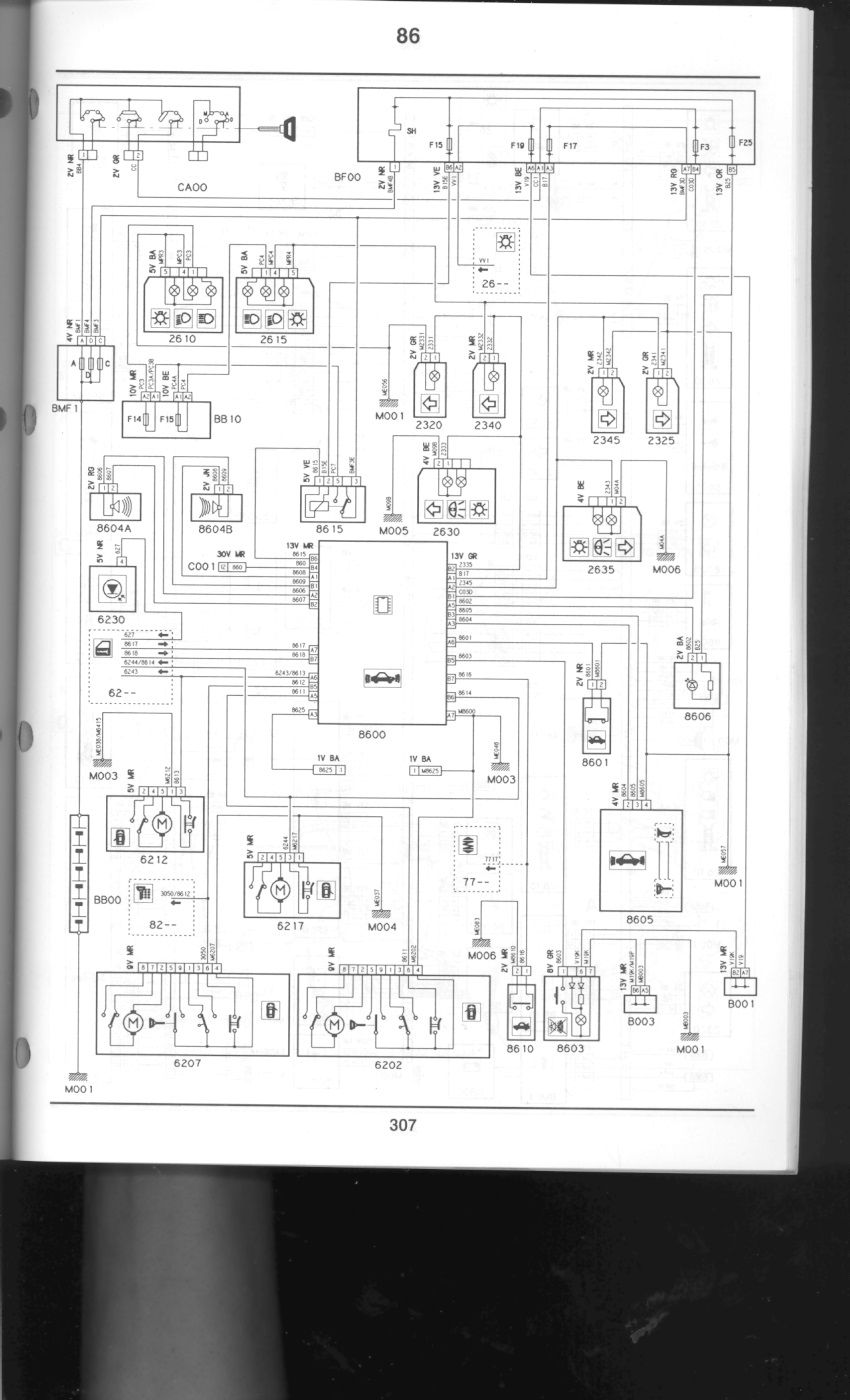 S1 Xantia V6 No Start Central Locking Page 2 French Car Forum Peugeot Sedre Wiring Diagram Alarm Cct